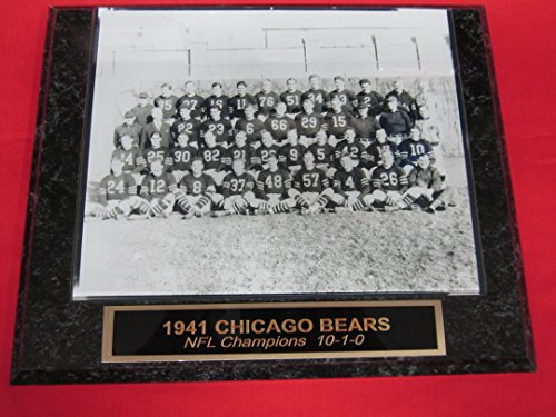 1941 Chicago Bears Engraved Collector Plaque w/8x10 TEAM Photo NFL (Nfl Team Photo)