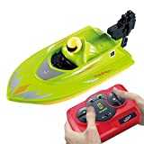 2.4G Mini RC Boat Remote Control Electric Racing Boat Remote Control Speedboat USB Charging Remote Control Ship with Built-in Battery