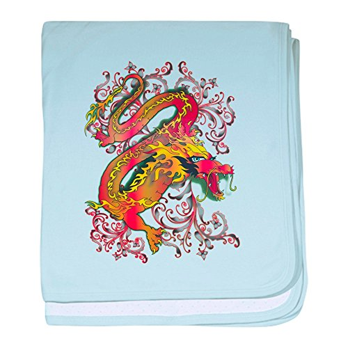 - Royal Lion Baby Blanket Fire Dragon - Sky Blue