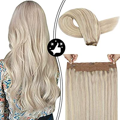 Moresoo 12 Inch Thick Hair Extensions Flip On For Short Hair 50g Per Package Hair Extensions Straight Color 18 Ash Blonde Highlighted With 613 Bleach Blonde Secret Wire Hair Extensions Buy Online