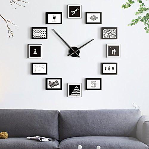 ZJF-ML Moderne minimalistischen Wohnzimmer wanduhr großes Foto wanduhr Uhr  Uhr Uhr ruhige persönlichkeit Quarz