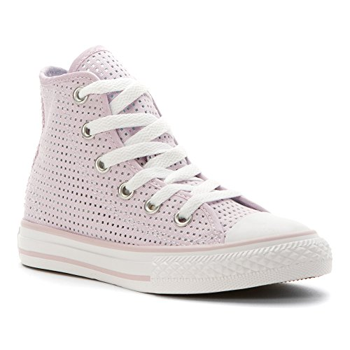 Converse Chuck Taylor All Star Kid's Perforated High-Top Sneakers (11 Little Kid M) - Converse Women High Top Purple