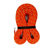 MudFog UIAA Certified 200ft Kernmantle Orange Static Rope 11mm - for Rock Climbing, Rappelling, Canyoneering, Rescue, Hauling and Mountaineering