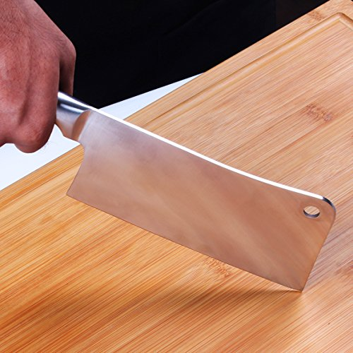 7 Inch Stainless Steel Chopper - Cleaver - Butcher Knife - Multipurpose Use for Home Kitchen or Restaurant by Utopia Kitchen by Utopia Kitchen (Image #4)