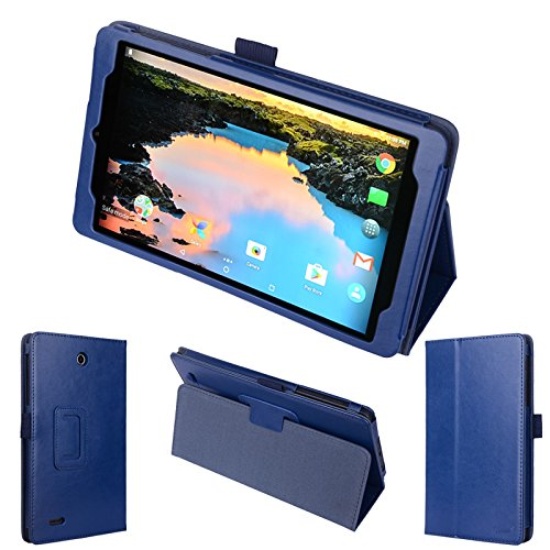 wisers Alcatel A30 TABLET 8 T-Mobile 8-inch Tablet Case/Cover, Dark Blue (Navy)