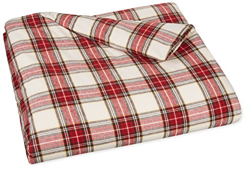 Amazonbasics Yarn Dyed Lightweight Flannel Duvet Cover