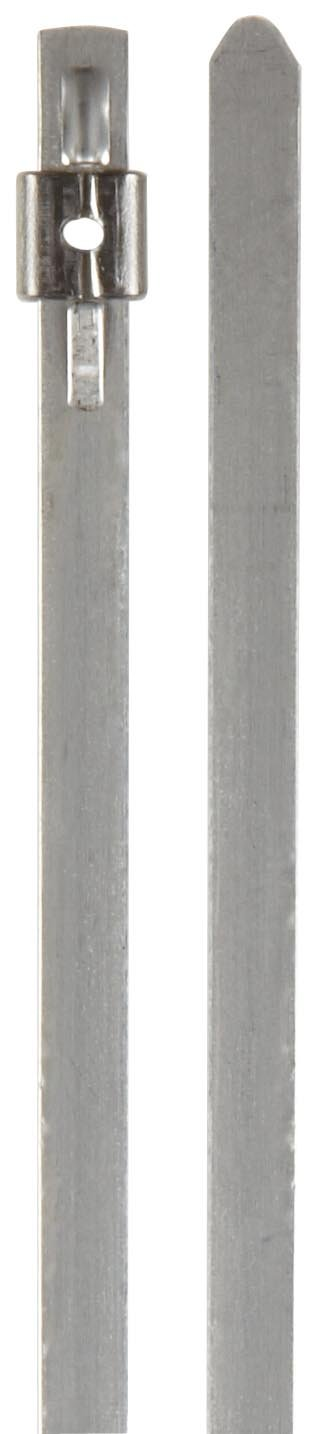 Image of BAND-IT AS2229 Mini Tie-Lok 304 Stainless Steel Cable Tie, 0.177' Width, 10' Length, 2' Maximum Diameter, 100 per Bag Cable Ties
