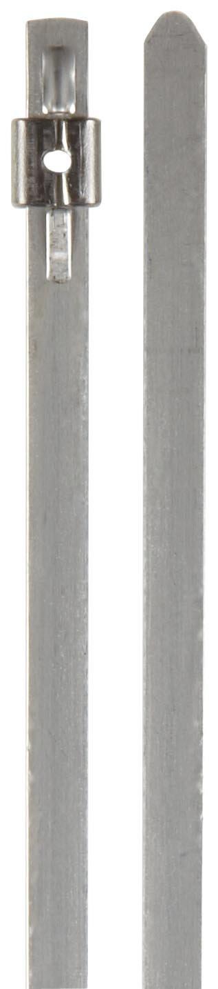 BAND-IT AS2229 Mini Tie-Lok 304 Stainless Steel Cable Tie, 0.177'' Width, 10'' Length, 2'' Maximum Diameter, 100 per Bag