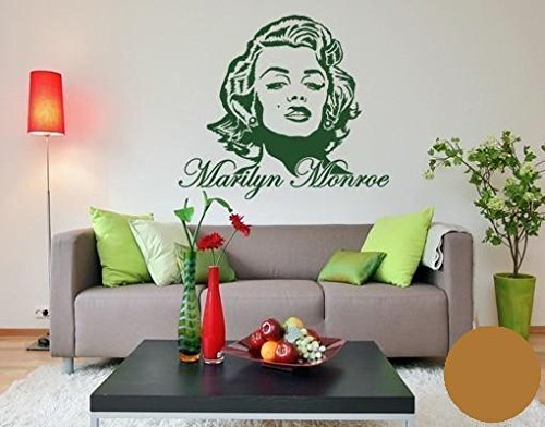 Pared de Pared Tatuajes 3743 Marilyn Monroe, marrón claro, 120cm x ...