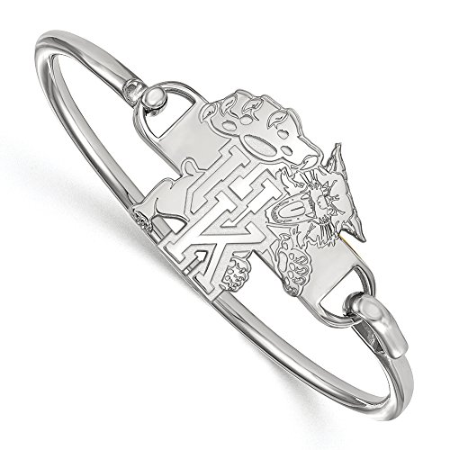 NCAA Sterling Silver University of Kentucky Hook Style Bangle, 6 inch by LogoArt