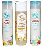 Cheap The Honest Company Shampoo Body Wash (10 Ounces) + Conditioner (10 Ounces) + Face and Body Lotion (8.5 Ounces)