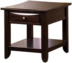 Furniture of America Hudson 1-Drawer End Table, Espresso Finish