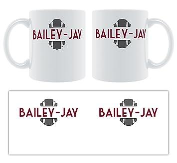 Bailey-JAY - estilo Art decó personalizable macho nombre taza de cerámica: Amazon.es: Hogar