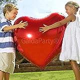 Globo del amor. GaldaParty®. Corazón gigante de 75 cm , para inflar con aire o Helio.