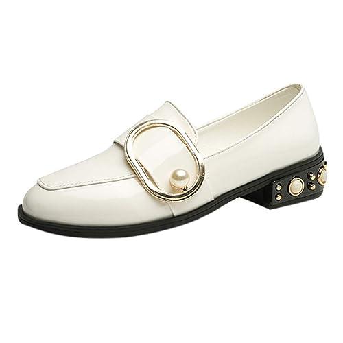 Luckycat Mujeres Punta Redonda Primavera Otoño Slip-on Flats Mocasines de Plataforma para Mujer Fringe Vintage Oxfords Zapatos Brogue OtoñO ResbalóN Mujeres ...