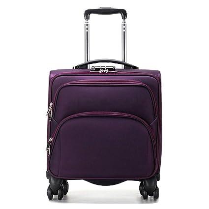 Maleta con ruedas para equipaje de mano, compartimento para computadora portátil, maleta de mano