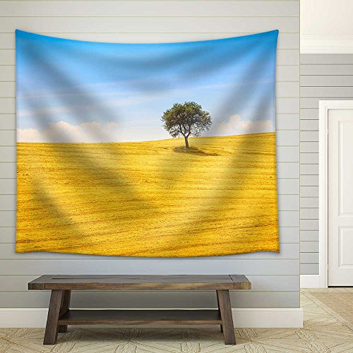 Tuscany Country Landscape Olive Tree and Green Fields Montalcino Italy Europe Fabric Wall