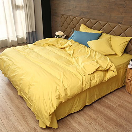 Luxury Bedding Duvet Cover, Protects and Covers your Comforter/Duvet Insert 100% cotton yarn dyed Premium Quality bedding, Queen Size 4 Pieces (1 Duvet Cover set + 1 flat sheet+2 Pillow (Lattice European Sham)