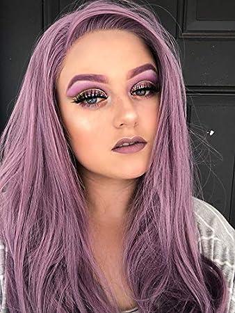 Amazon Com Morvally Fashion Purple Glueless Lace Front Wigs Free