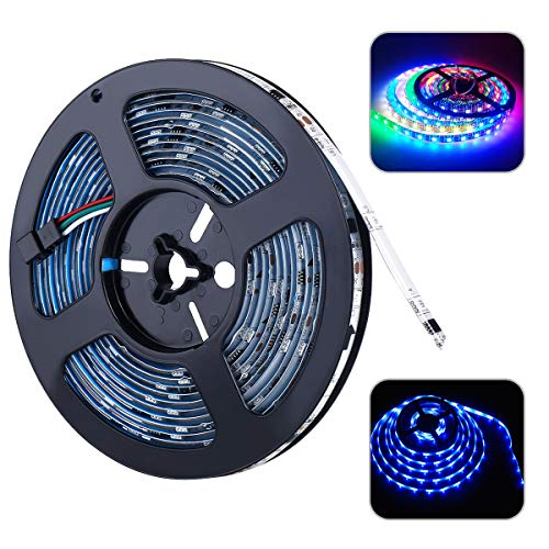 AMAZING POWER Magic Dream Color Led Strip Light, 16.4ft/5m RGB Color Changing SMD 5050 Waterproof Flexible Chasing Effect Rope ()