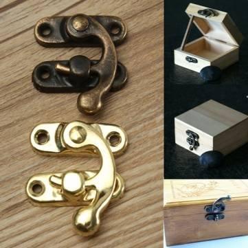 12pcs antica serratura gioielli decorativi del fermo hasp regalo scatola di legno con vite Kyz Kuv K203753 - GoldenM