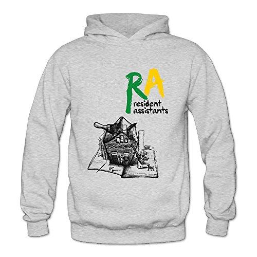 Hooded Sweatshirt Assistant (Ash Resident Assistant Cozy Hooded Sweatshirt For Woman Size S)