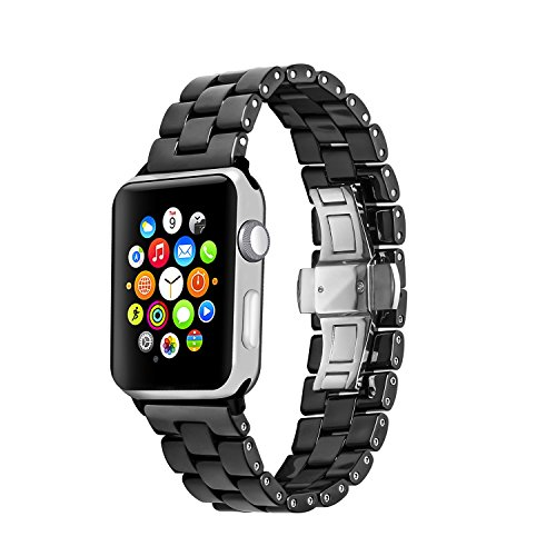 For Apple Watch Band , Topun Ceramic Watch Band Replacement Strap Bracelet For Apple Watch All Models (38mm ()