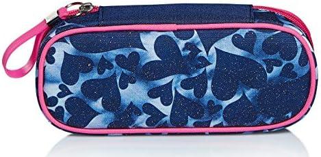Bustina Ovale Seven Blu Fluffy Roses Attrezzato con Organizer interno porta penne