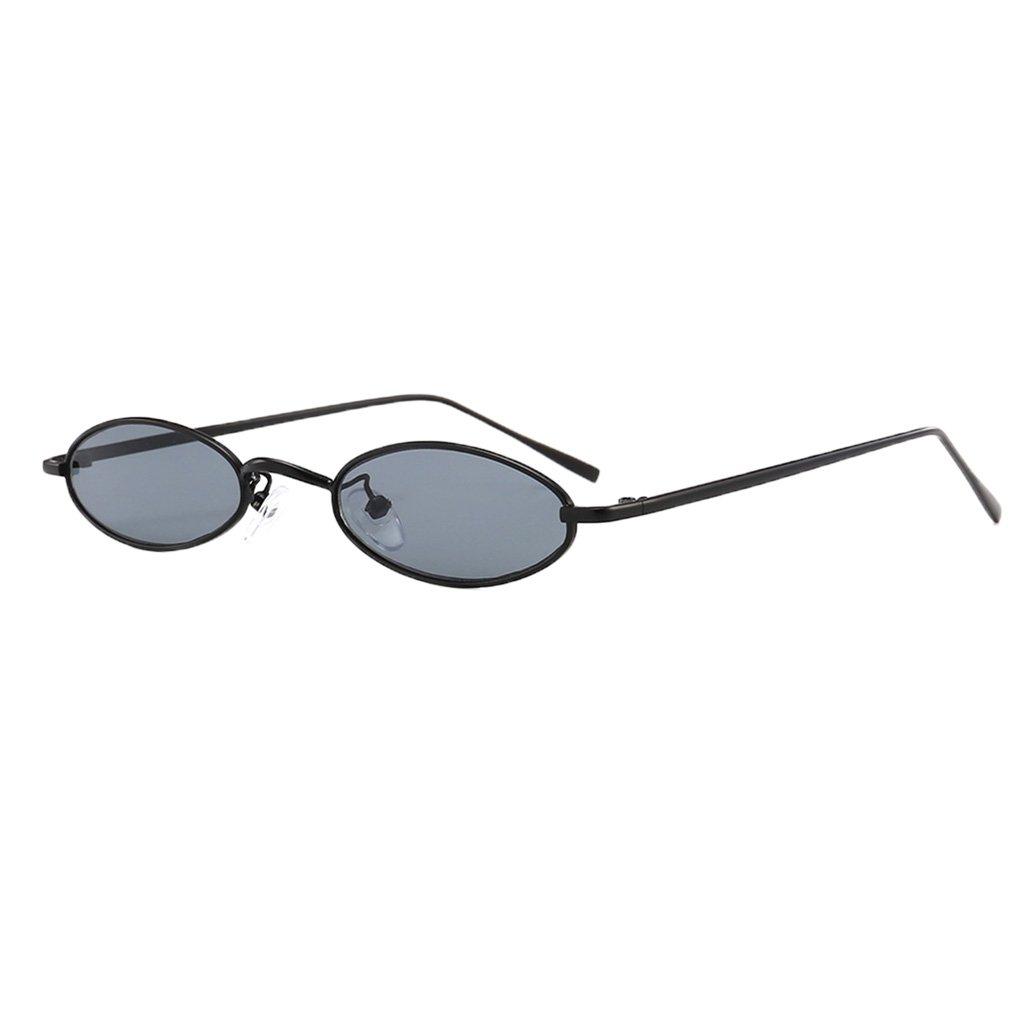 726fd7c3d8 B Blesiya 2 Piezas Gafas De Sol Unisex Lentes Ovaladas con Montura Metálica  UV400 para Deportes ...