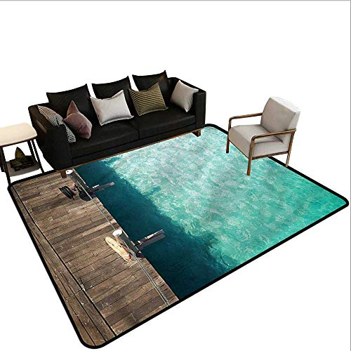 Emerald,Large Floor Mats for Living Room 36