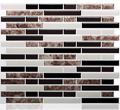 STICKGOO Peel and Stick Tile Backsplash, Self Adhesive Wall Tiles for Kitchen&Bathroom, Marble (Wall Tile Patterns)