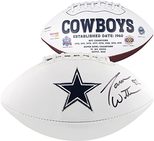 (Jason Witten Dallas Cowboys Autographed White Panel Football - Fanatics Authentic Certified - Autographed Footballs)