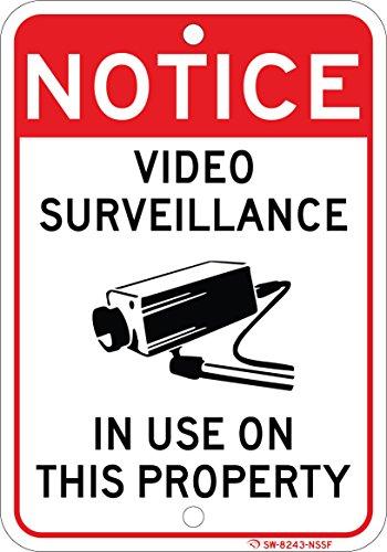VIDEO SURVEILLANCE ON PROPERTY sign 7