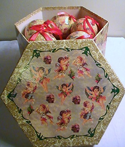 Amazon.com Angel Decoupage Christmas Ornaments/Box Set of