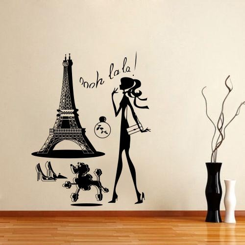 paris wall decal p wall decal. Black Bedroom Furniture Sets. Home Design Ideas