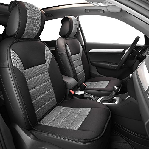 (FH Group FB201GRAY102 Black Front Ultra Fine Seat Cushion Pad (Side Airbag Safe))