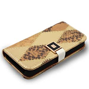 Phone Case Samsung Galaxy Note 3 Brown Beige Argyle Wallet Pouch Cover Protector FREE Primo Design Cartoon TOTE Bag: