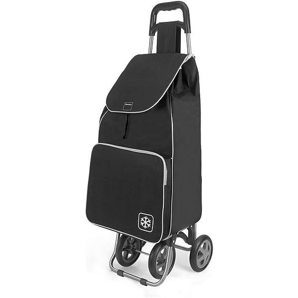 Gimi Twin - Carro de la compra, con 4 ruedas, bolsa impermeable de ...