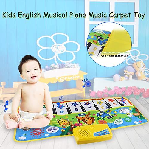 71X28 cm Ni/ños Ingl/és Musical M/úsica de Piano Alfombra Beb/é Kids Play Mat manta Educativa Juguetes Electr/ónicos de Regalo