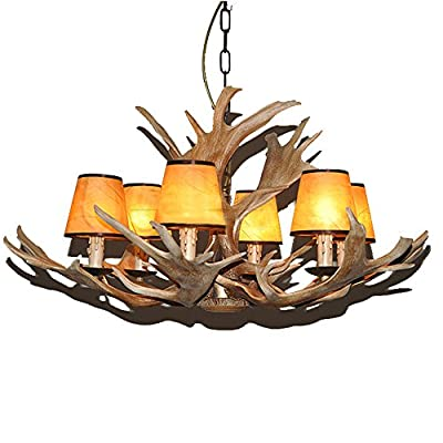 LNC 6 Lights Deer Antler Chandeliers