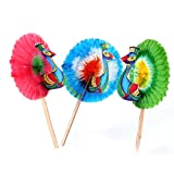 50pcs Peacock Cake Decoration Cupcake Picks - Worldwide