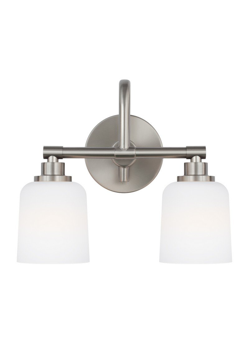 Feiss VS23902SN Two Light Vanity Fixture by Feiss