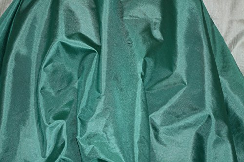 (Agate Green Tissue Taffeta Silk, 100% Silk Fabric, By The Yard, 44