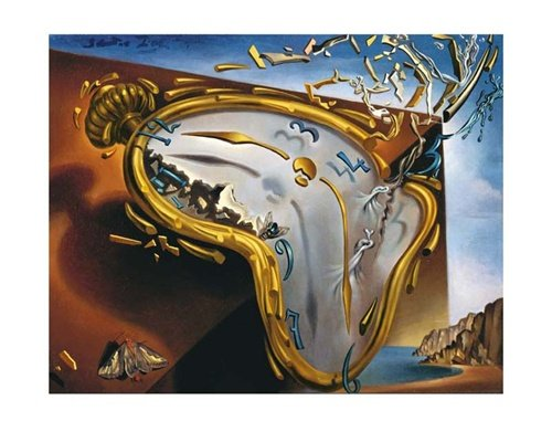 (Soft Watch at the Moment of First Explosion, c.1954 Art Print by Salvador Dalí 20 x 16in)