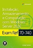 capa de Exam Ref 70-740. Instalação, Armazenamento