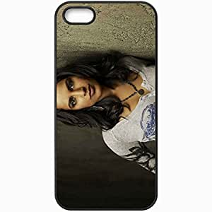 Personalized iPhone 5 5S Cell phone Case/Cover Skin Agam Darshi Brunette Face Celebrity Actress Look Black by lolosakes