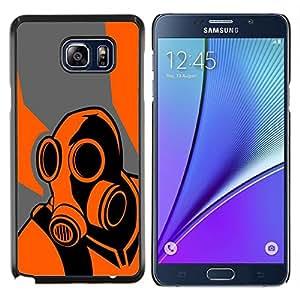 KLONGSHOP // Cubierta de piel con cierre a presión Shell trasero duro de goma Protección Caso - Juego Naranja Psycho B0Rderlands - Samsung Galaxy Note 5 5th N9200 //