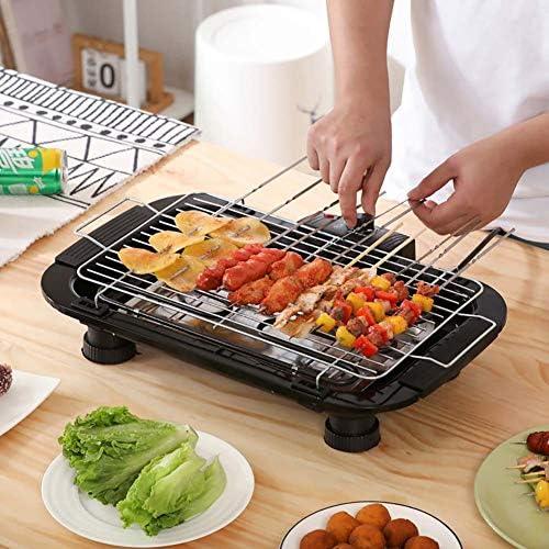 Barbecue Electrique 2000W Gril De Table–Cuisson sans Ajout De Matière Grasse Idéal pour Soirée en Famille Et Amis, Compris Gants Et Brosse