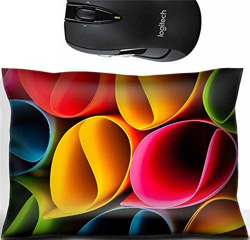 Liili Mouse Wrist Rest Office Decor Wrist Supporter Pillow Colorful card in unique elliptical shapes with shadow effect and selective Photo 23358504 by Liili Customized Premium Deluxe Pu