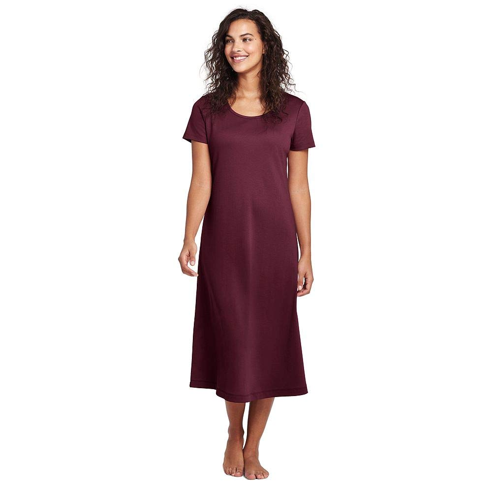Lands  End Women s Petite Midcalf Supima Cotton Nightgown at Amazon Women s  Clothing store  daa0c56ce